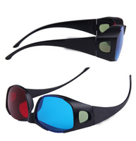 2014 Free shipping Universal type 3D glasses/Red Blue Cyan 3D glasses Anaglyph BERTHA 3D vision Plastic glasses