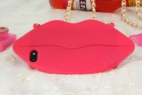 New Funny 3D Marilyn Monroe Sexy Big Mouth/Kiss/Lip Silicon Protective Case For iPhone 4 4G 4S Wholesale  I4XG1