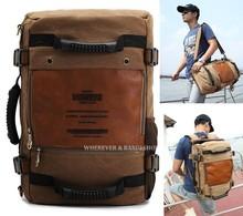 MULTIFUNCTION KAUKKO men's canvas army style shoulder bag Travel tactical backpacks military 3 ways_M210(China (Mainland))