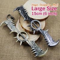 Large Size 15cm LOL12 League of Legends lol Weapons Draven Axe's Pendant Keychain Zinc Alloy Key Chains men's gift