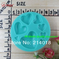 A variety of sizes heart shape modelling silicon fondant Cake decoration mold fondant mold chocolate mold NO.:Si320