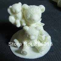 family of three Modelling of the Little bear fondant Cake decoration mold for fondant mold Handmade soap mold No.:si370
