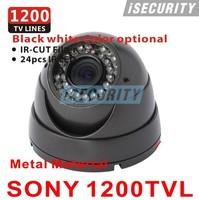HD 720P Megapixel ! 1200TVL Sony CCTV Varifocal lens Outdoor security dome cameras 2.8-12mm lens IR Camera + Free shipment