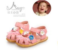 Hot ! children shoes 2014 summer new fashion brand shoes Baotou parquet lace girls shoes girls sandals kids shoes