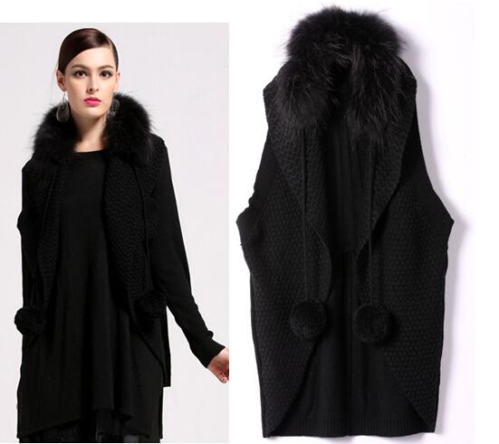 Sleeveless Sweater Vest Vest Black Outwear Sweater