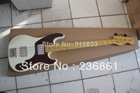 Hot SELLING F 4 strings JAZZ bass Vintage white electric  Electric BASS Guitar
