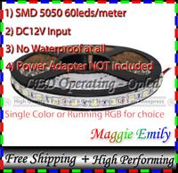 300leds 5meter No Waterproof led strip 5050 SMD, 60 leds per meter DC12V 5050 led strips light (Power Adapter not included)