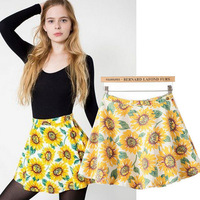 2014 Summer European Style Hot Selling Printed Cotton Twill Mini Skirt For Women/Sexy Mini Skirt 100% Cotton