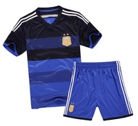 New Argentine National Team Jersey Football Game Clothing Set Short Soccer Jersey 2 Pieces/Set DIY Number Soccer Jersey