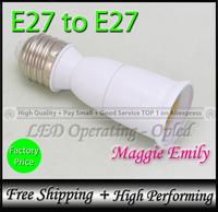 10pcs 8.91USD per lot - adapter e27 to e27 light lamps extension socket base holder for led bulb light lamp holder