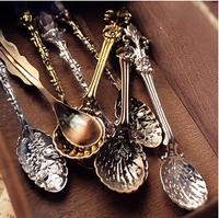 8pcs/lot Free Shipping Yiwu Fashion accessories vintage royal wind coffee spoon tea ice cream spoon