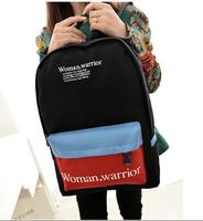 Wholesale Hot-selling women's backpacks bag fashion letter print female school backpack for girls canvas school bag for female