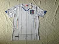 hot sale!! 2014 world cup italy away jerseys fan versions emboridered italian #9 balotelli,#21 pirlo,