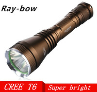 HOT SALE Raybow CREE XM-L T6 2000Lumens High Power Torch led flashlight For 1x18650/ 1xBattery charger
