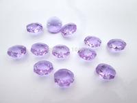 100 Purple Chandelier Cut Glass Crystals Lamp Parts Octagon Beads Connectors Rainbows Maker 14mm DIY Beads M01912-2