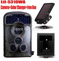 LTL Acorn 5310WA 720P no flash 12MP Wildlife Scouting Camera hunting trail camera Wide Angle 100 Degree+Solar charger+Iron box