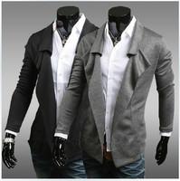 2014 new fashion personality no button design suit blazer men suits for men