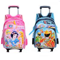 children cartoon trolley school bag trolley bags with wheels backpacks mochila infantil kids printing wheeled backpack schoolbag