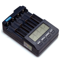 Powerfocus BC3100 18650 26650 16340 14500 10440 CR123 Professional Li-ion Ni-MH Intelligent Digital LCD Charger Battery Analyzer