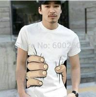 Summer Hot Sale Cool Fashion Men's Clothing O-neck Short Sleeve Men Shirts 3D Big Hand T Shirt men Tshirts Tops Tees For Man