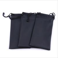 Black Durable waterproof Dustproof plastic sunglasses pouch soft eyeglasses bag glasses case Eyewear Accessories