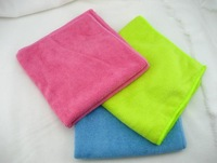 2014 New 40*40cm Microfiber Dish Towels Wiping Dust Rags Magic Quick Dry Cleaning Cloth Color Sent by Random