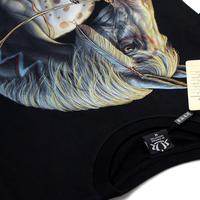 Free shipping punk high quality print Indian cotton t shirt print animal men's t shirts rock style 3 d t shirt METAL EMPRIE