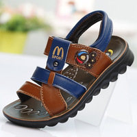 2014 kids sandal shoes flat footweear boy leather sandal shoes student casaul children summer sandal shoes beach leisure boy s22