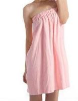 China No.1 Women's All Match Stripe High Quality 140cm*70cm Pure Color Elastic Quick-Dry Cotton Material Bath Towel Pink