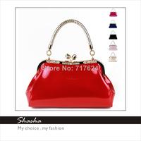 2014 New women leather messenger bags famous brand designers girls diamond handbags hasp totes evening party bag wedding purses
