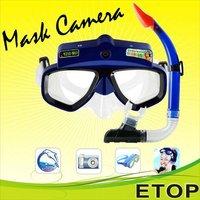 Underwater Mask Digital Video Camera