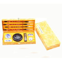Chinese Calligraphy Set Brush Pen Ink Stone Writing Art Craft Gift With Case New