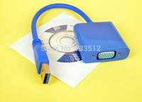 USB3.0 to VGA Card Display External Cable Adapter fr Win7/8 Vista 16/32 Bits