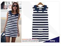 Spring 2014 New Hot Sale Casual Dress Stripe sleeveless Summer Dress,Women Dress,Fashion Women Striped Pencil Dress