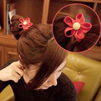 Free shipping variety of color zipper teeth edge flowers for hair accessories hair band Fashion women hair rope headdress flower