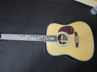 best Acoustic guitar natural Solid spruce AAA /Tree of life inlay fret board Abalone Binding Body made in china