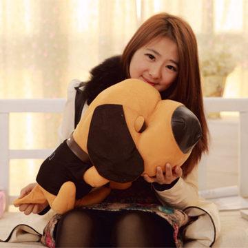 10 Pieces Cute plush dog tummy, girls birthday gift, big nose dog, creativity the bulk dog dolls, baby toys, 30cm(China (Mainland))