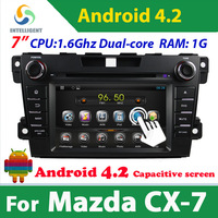 Pure Android 4.2 2 Din Car DVD player For Mazda cx-7 cx 7 with WIFI 3G GPS USB Bluetooth Capacitive screen car radio stereo