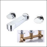 Brass Sink Basin Faucet Handles For Bathroom Mixer Water Tap torneira para pia banheiro torneira lavabo torneiras de parede pia