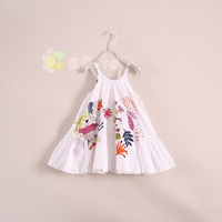 European and American brands in France Catimini girls for standard harness dress beach dress printed cotton princess dress