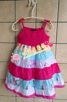 catimini Girls Dress children dress princess dress cotton  beach dress