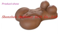 Drop shipping New Black Color 3D real solid silicone sex dolls for men, vagina anal & breast love doll for men