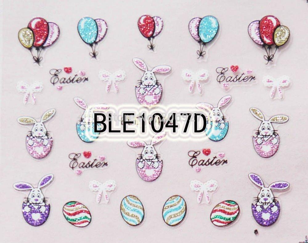 1PC BLE1047D Nail Art Cute Cartoon Easter Sticker Nail Art Sticker(China (Mainland))