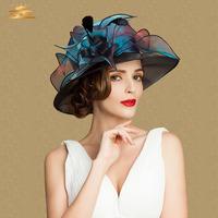 2014 New fashion brand evening hats elegant fedora church hats fascinators ladies formal wedding hats for women