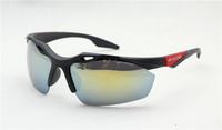 2PCS\LOT 3114F-black+red Unisex Fashion Sport Cycling Glasses Fashion Driving Mirror sunglasses Free Shipping