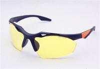 2PCS\LOT 3115F-black+orange  Unisex Fashion Sport Cycling Glasses Fashion Driving Mirror sunglasses Free Shipping