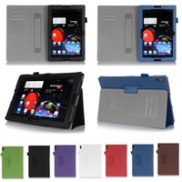 Lenovo A10-70A Case For 10.1 inch Lenovo Tablet A7600 Stand Cover Case PU Leather With Card Slot and Hand Strap