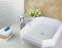 TD30158255C Irregular Functional Chrome Faucet Reasonble Price Countertop Ceramic Basins Bathroom Fixtures Basin Sink Faucet Set