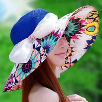 Hat women's folding summer strawhat anti-uv sunbonnet sun hat beach cap sun hat