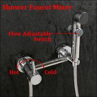 Brass Flow Adjustable Shower Bathroom Shower Faucet Handles Shower Hotels Bath Mixer Water Tap torneira banheiro chuveiro ducha